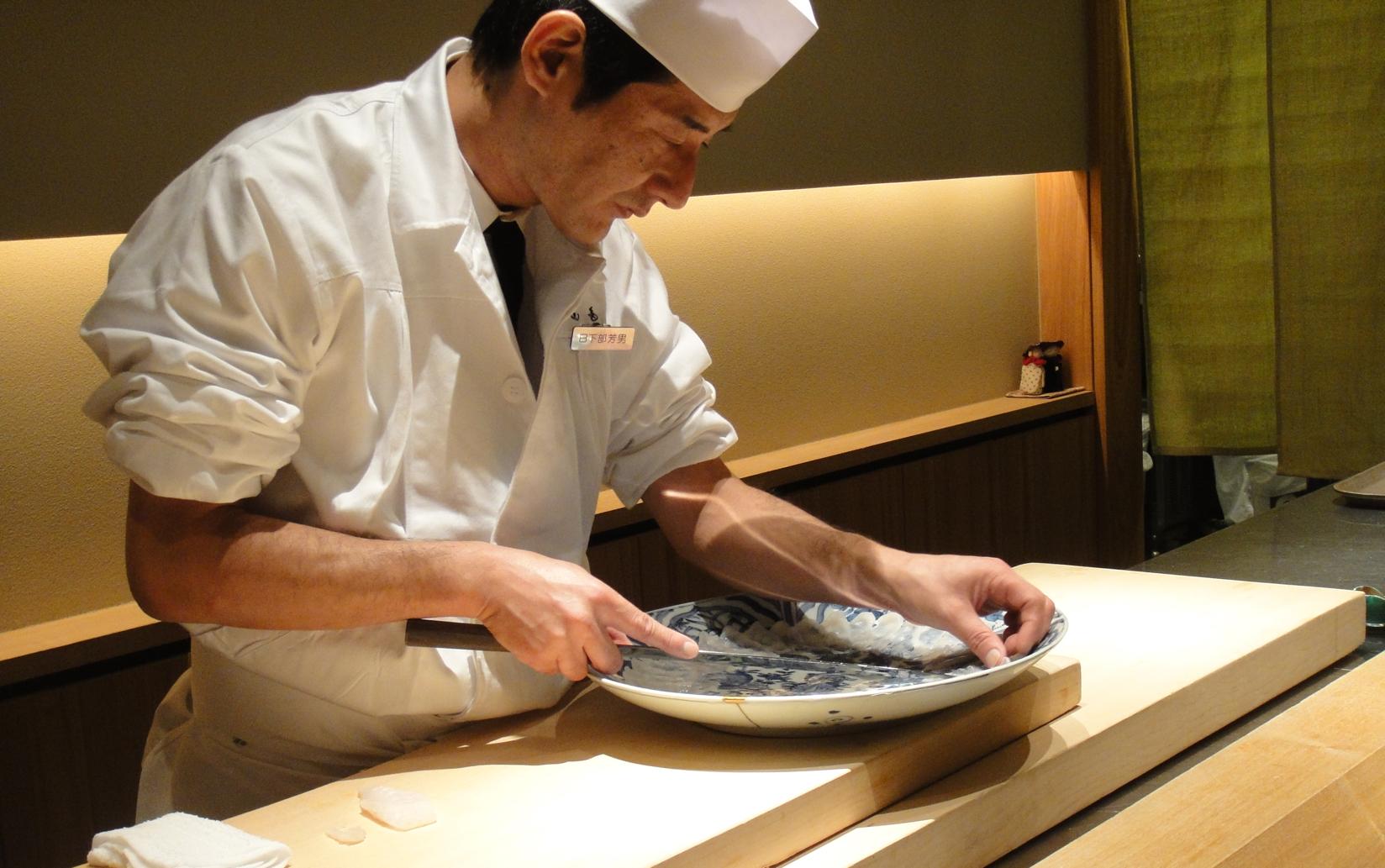 cocinando pez fugu